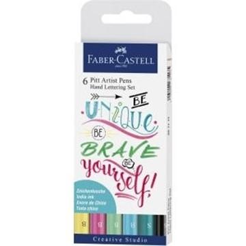 Bild von Faber Castell Pitt Art Pen Handlettering Pastel 6 Stück