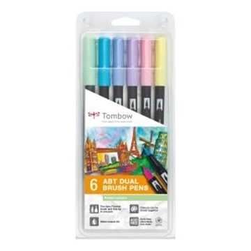Bild von TOMBOW ABT Dual Brush Pen 6er Set Pastellfarben