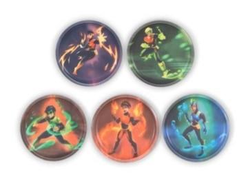 Bild von Klettie-Set Superhelden 5-tlg.