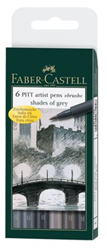 Bild von Faber Castell Pitt artist pens brush shades of grey