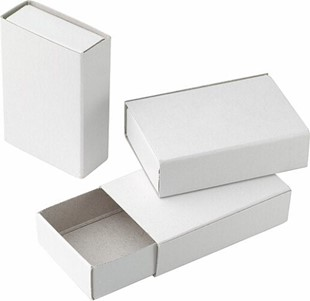 Bild von Zündholzschachteli klein aus Karton 52x34x14mm, Packung à 10 Stück
