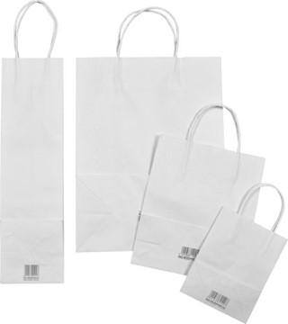 Bild von Blanko Papiertaschen weiss 12x5.5x15cm, Packung à 20 Stück