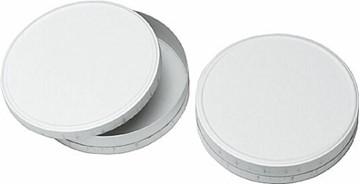 Bild von Käseschachteln blanko weiss leer, Durchmesser 11cm mit Deckel