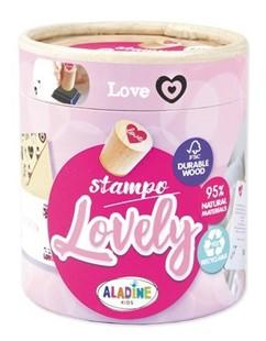 Bild von Aladine Stampo Lovely Box, 15 Stempel, Love
