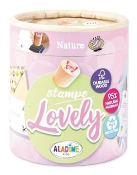 Bild von Aladine Stampo Lovely Box, 15 Stempel, Natur